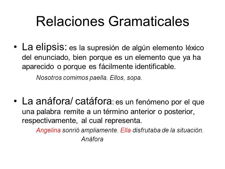 Relaciones Gramaticales