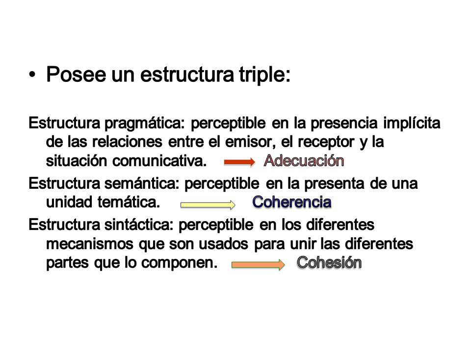Posee un estructura triple: