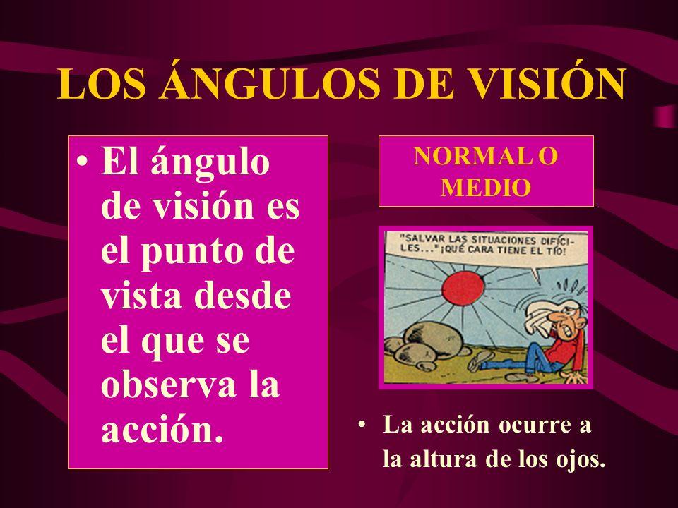 LOS ÁNGULOS DE VISIÓN El ángulo de visión es el punto de vista desde el que se observa la acción. NORMAL O MEDIO.