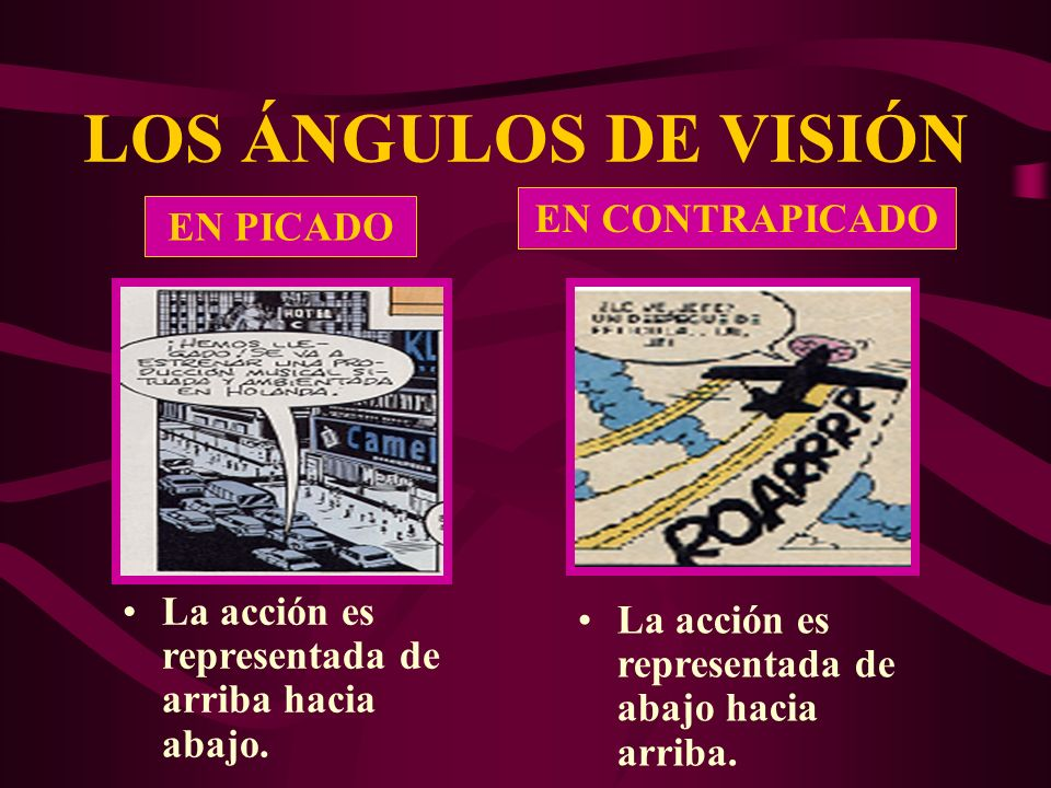 LOS ÁNGULOS DE VISIÓN EN CONTRAPICADO EN PICADO