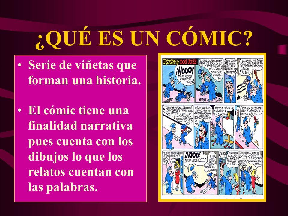 ¿QUÉ ES UN CÓMIC Serie de viñetas que forman una historia.