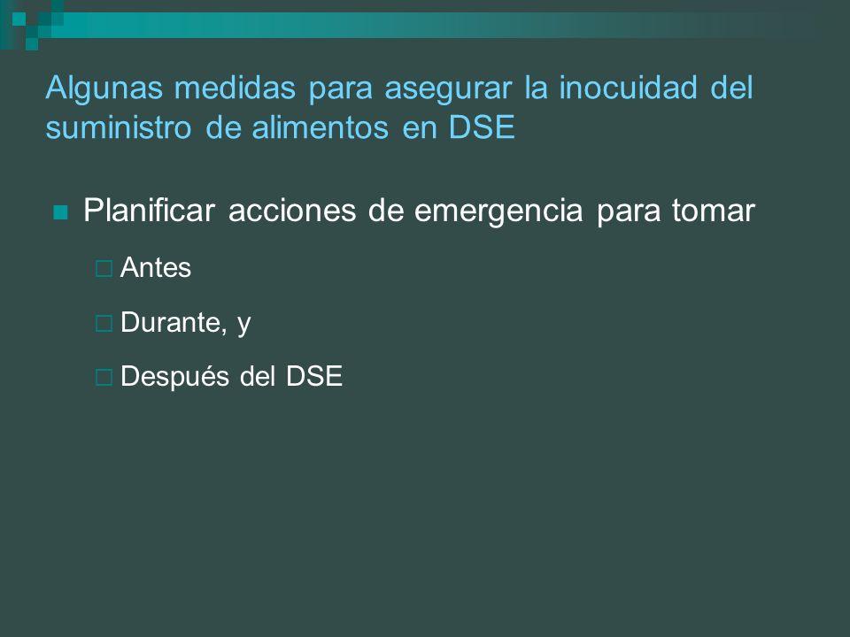 Planificar acciones de emergencia para tomar