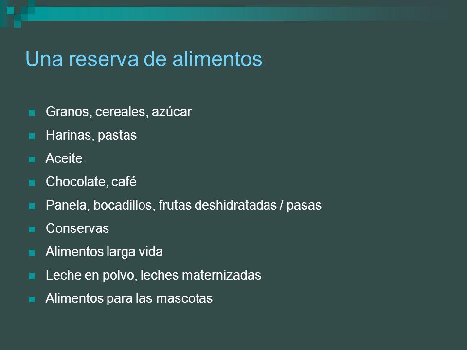 Una reserva de alimentos