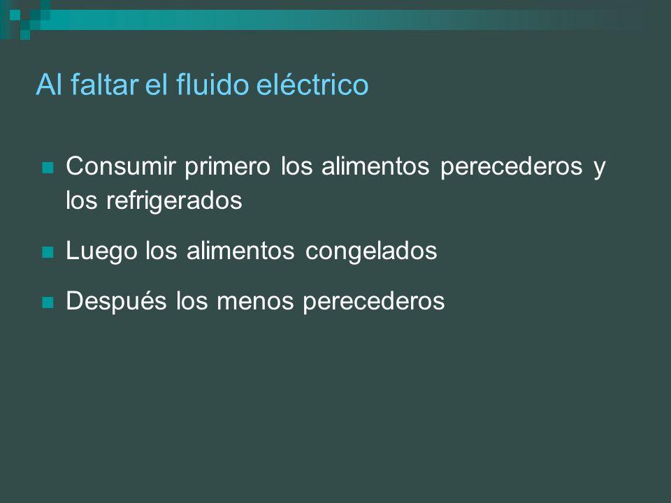 Al faltar el fluido eléctrico