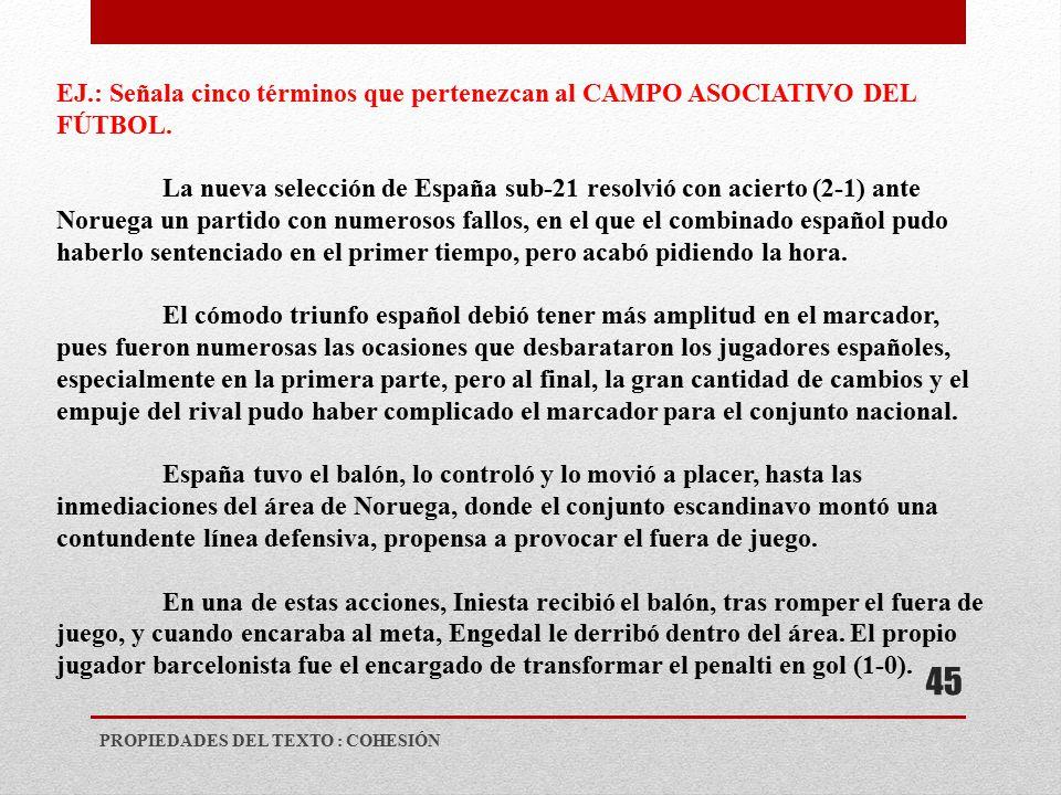 Propiedades del texto ies valle del ebro ppt video for Cuando es fuera de lugar en un partido de futbol