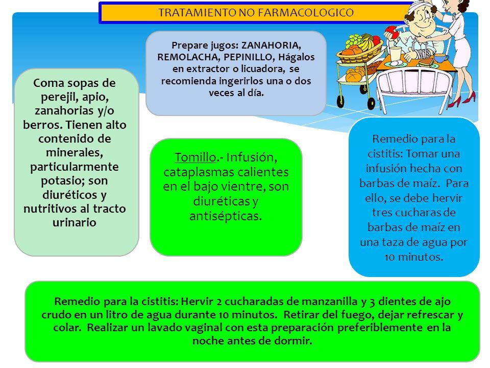 TRATAMIENTO NO FARMACOLOGICO