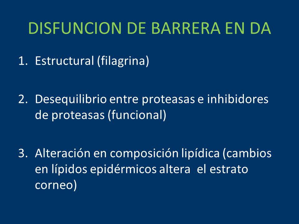 DISFUNCION DE BARRERA EN DA