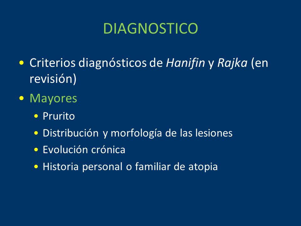 DIAGNOSTICO Criterios diagnósticos de Hanifin y Rajka (en revisión)
