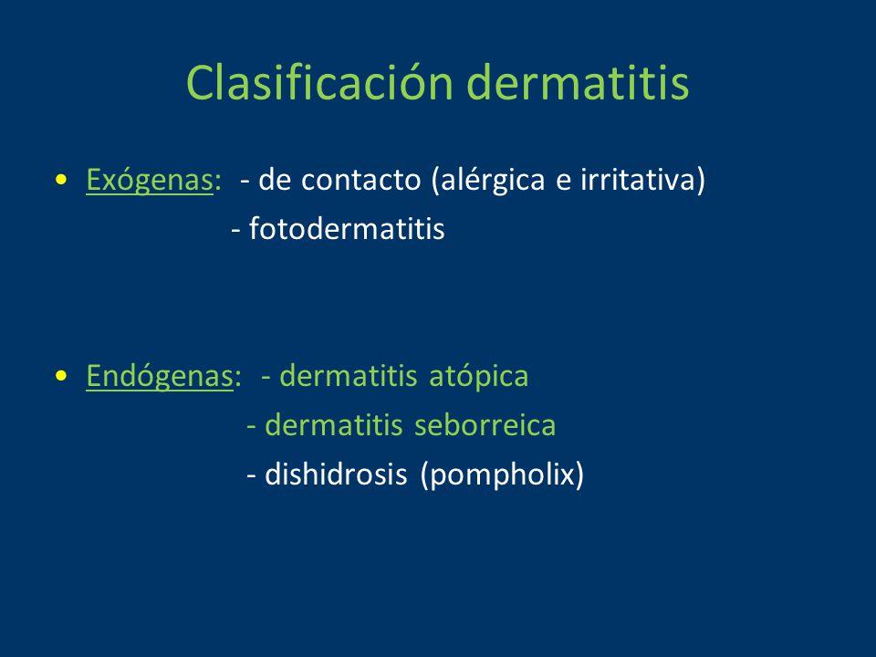 Clasificación dermatitis