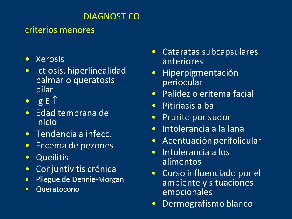 DIAGNOSTICO criterios menores