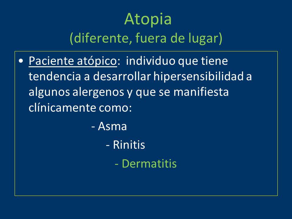 Atopia (diferente, fuera de lugar)