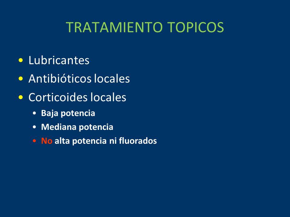 TRATAMIENTO TOPICOS Lubricantes Antibióticos locales