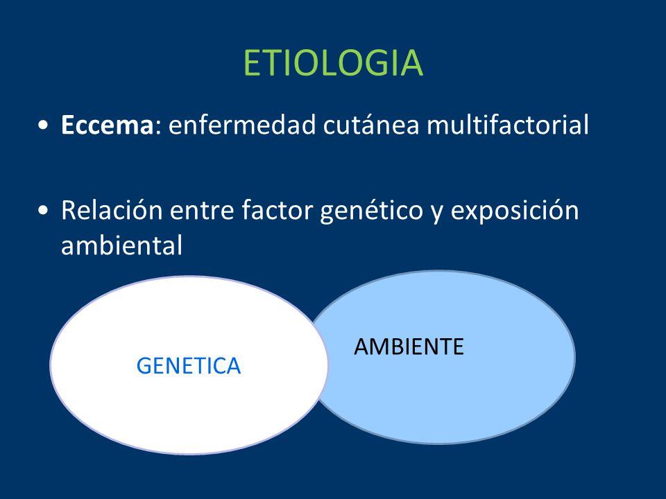 ETIOLOGIA Eccema: enfermedad cutánea multifactorial