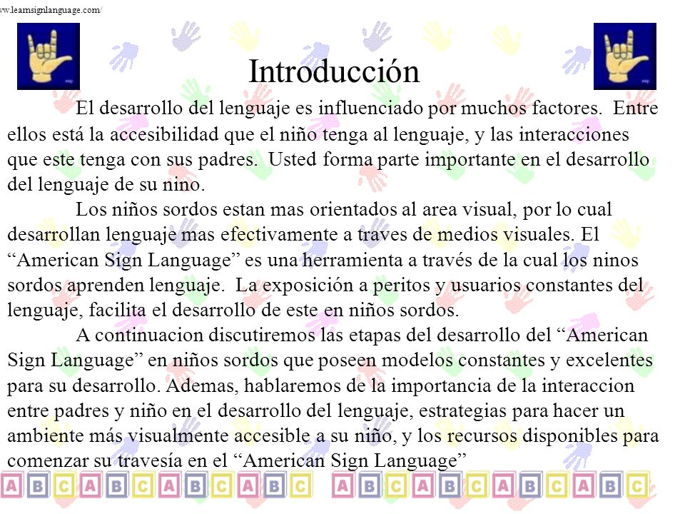 www.learnsignlanguage.com/ Introducción.