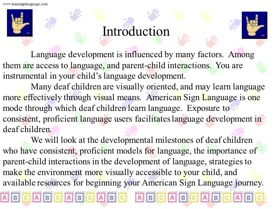 www.learnsignlanguage.com Introduction.