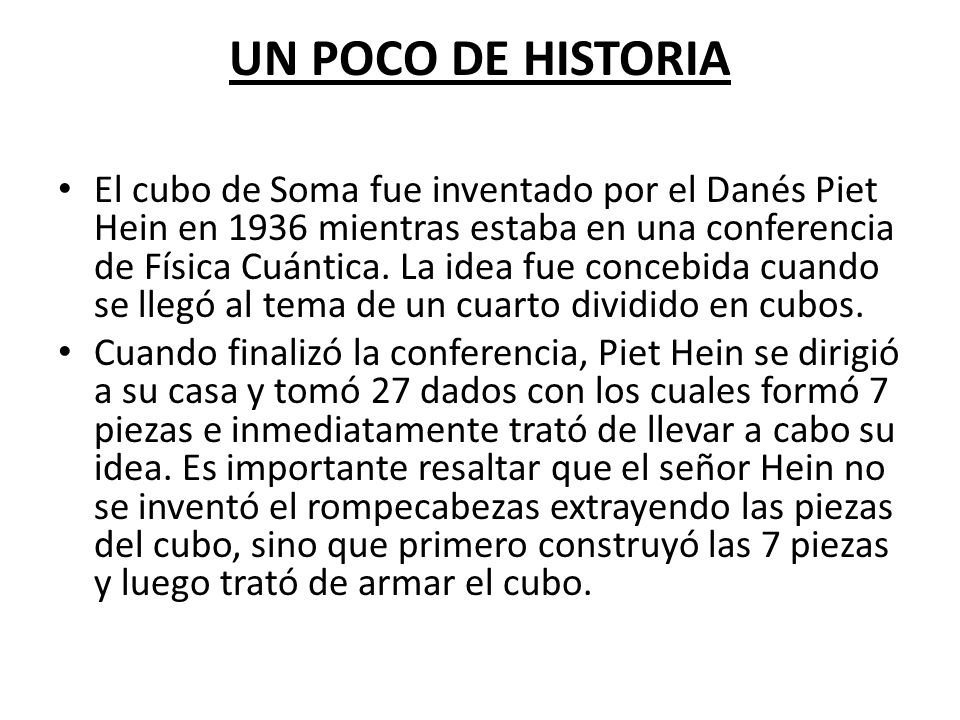 razonando con el cubo de soma ppt video online descargar