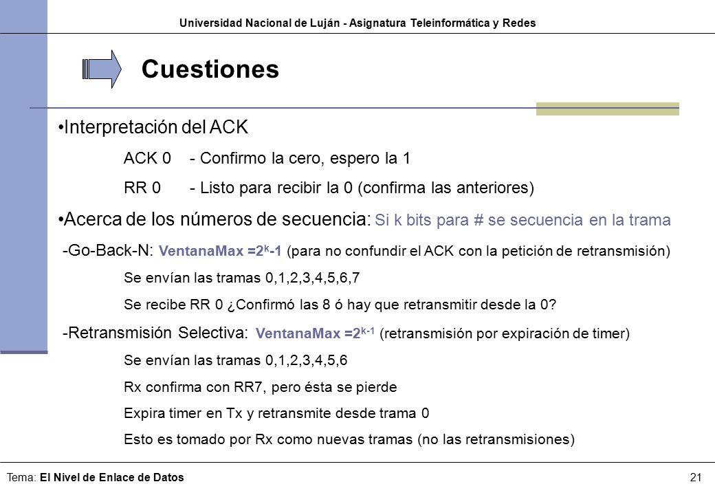 Universidad Nacional de Luján - Asignatura Teleinformática y Redes ...