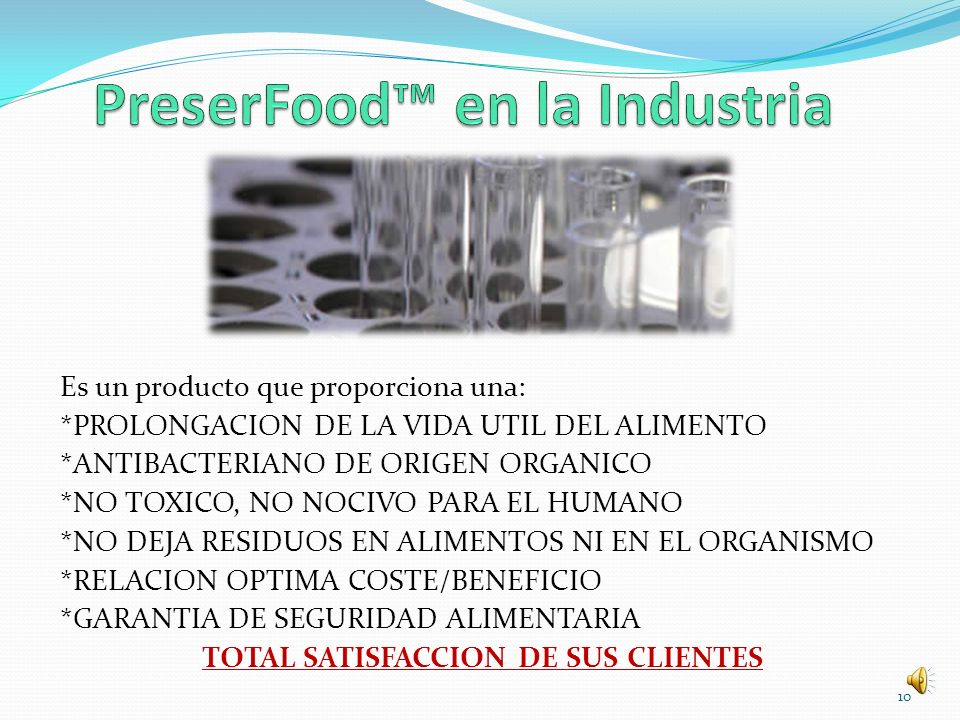PreserFood™ en la Industria