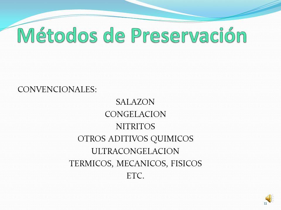 Métodos de Preservación