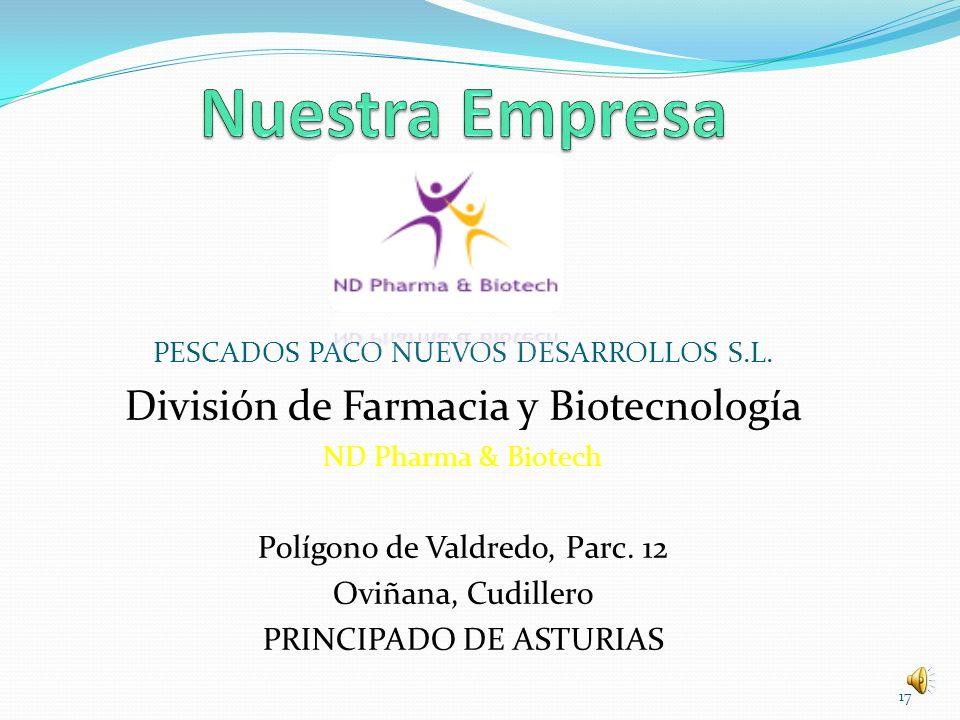 Nuestra Empresa División de Farmacia y Biotecnología