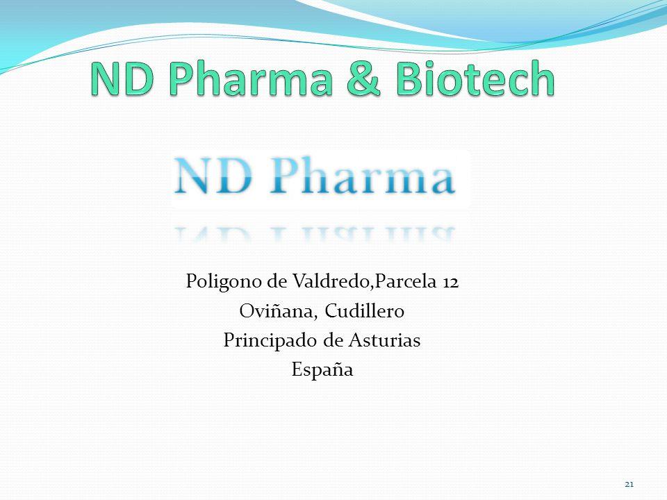 ND Pharma & Biotech Poligono de Valdredo,Parcela 12 Oviñana, Cudillero