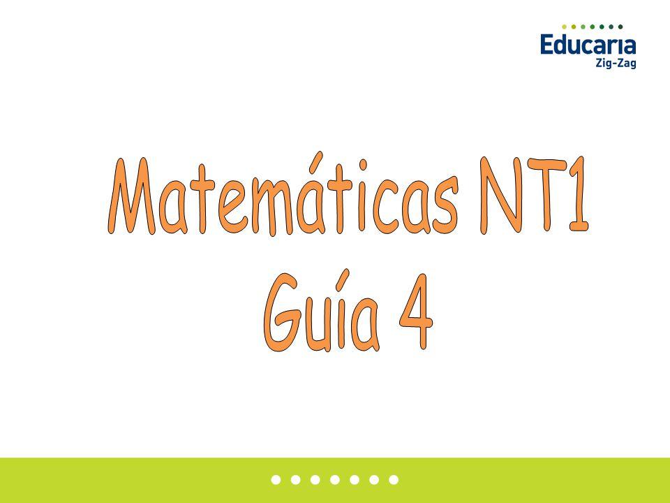 Matemáticas NT1 Guía 4