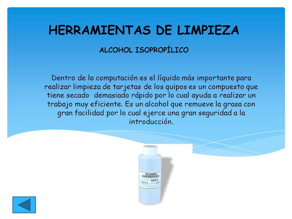 Herramientas de un t cnico para mantenimiento del pc ppt - Alcohol de limpieza para que sirve ...