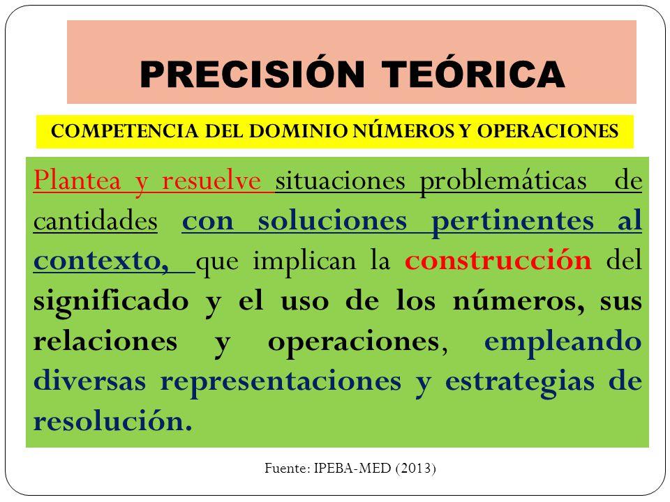 COMPETENCIA DEL DOMINIO NÚMEROS Y OPERACIONES