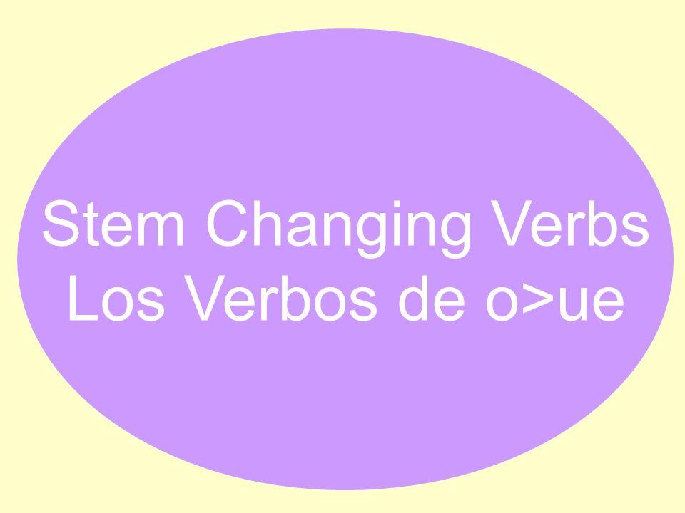 Stem Changing Verbs Los Verbos de o>ue