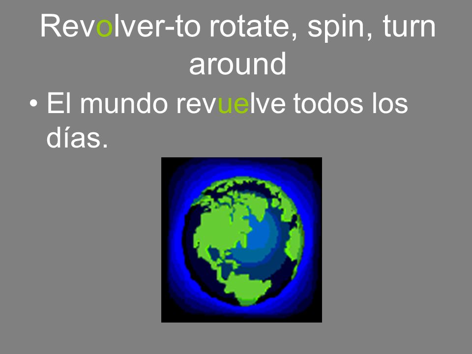 Revolver-to rotate, spin, turn around