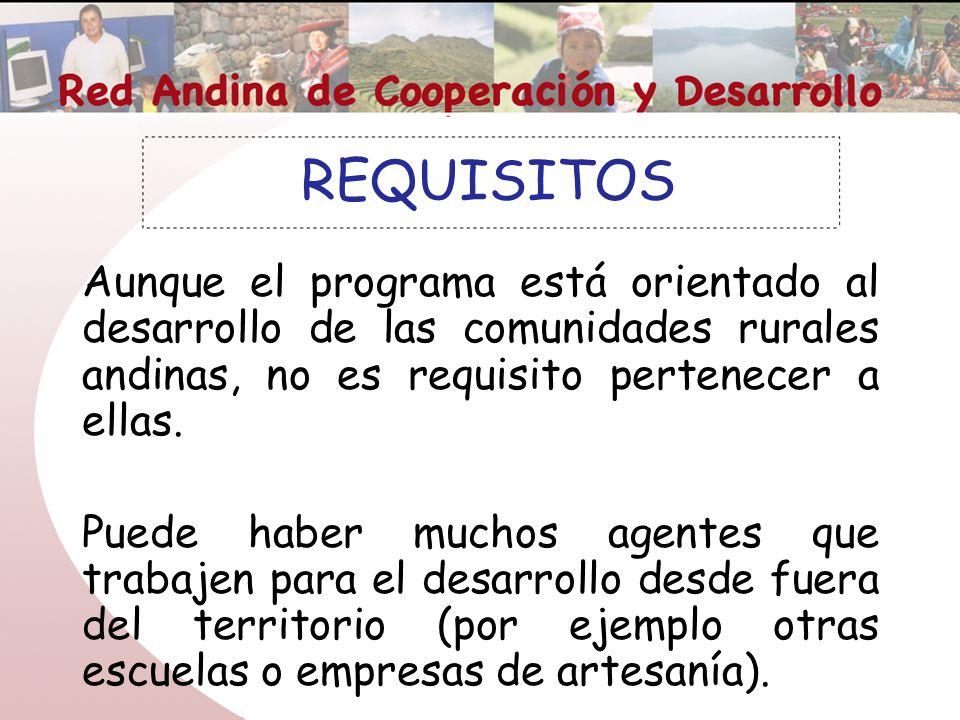 Red andina de cooperaci n y desarrollo ppt descargar for Requisitos para abrir un comedor comunitario