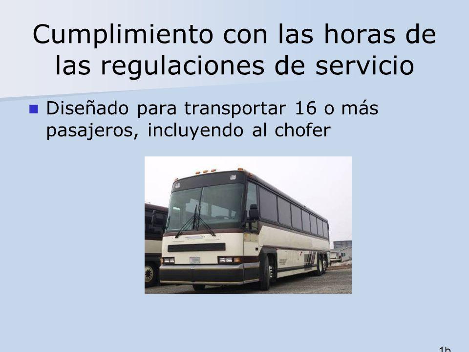 Cumplimiento con las horas de las regulaciones de servicio