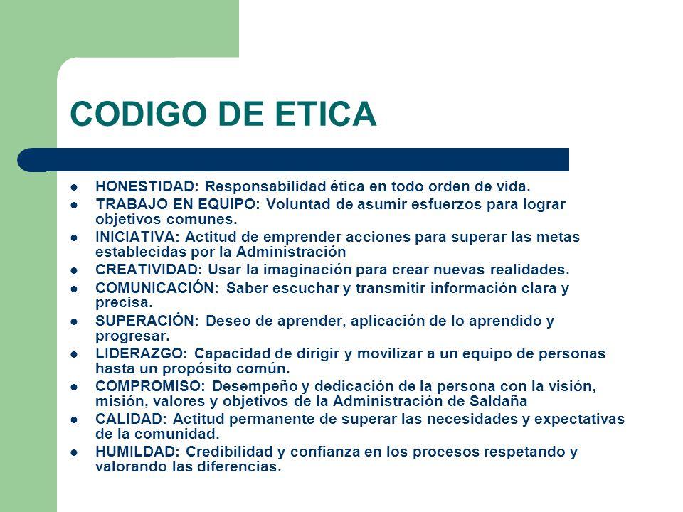 Codigo de etica para la alcaldia municipal de salda a for Codigo de oficina