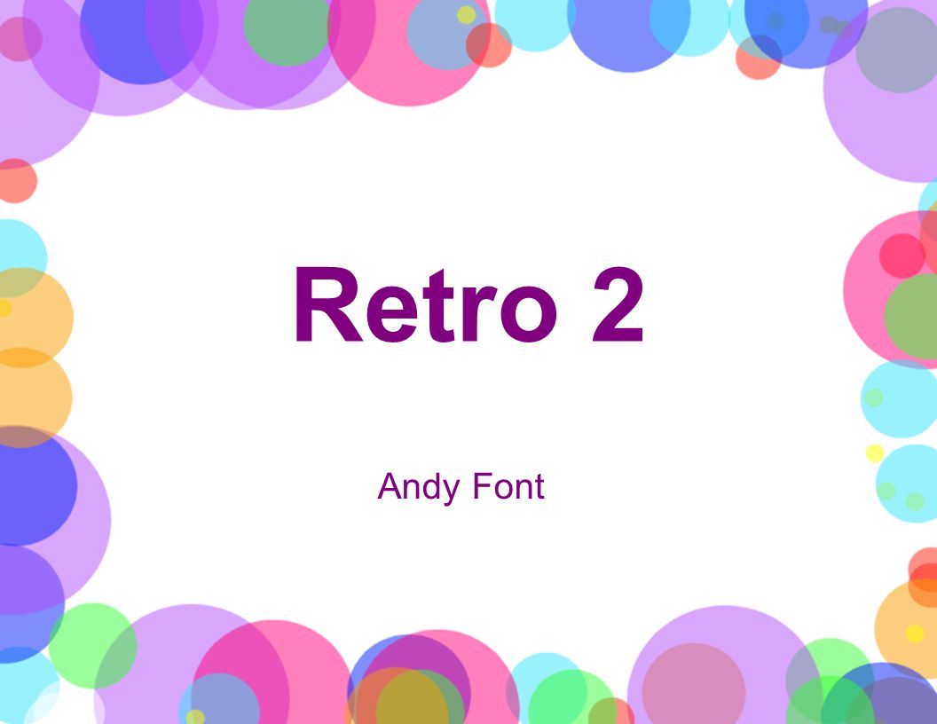 Retro 2 Andy Font