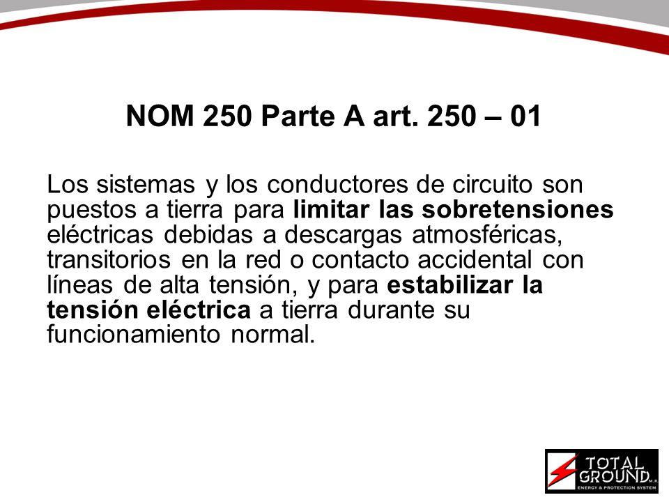 NOM 250 Parte A art. 250 – 01