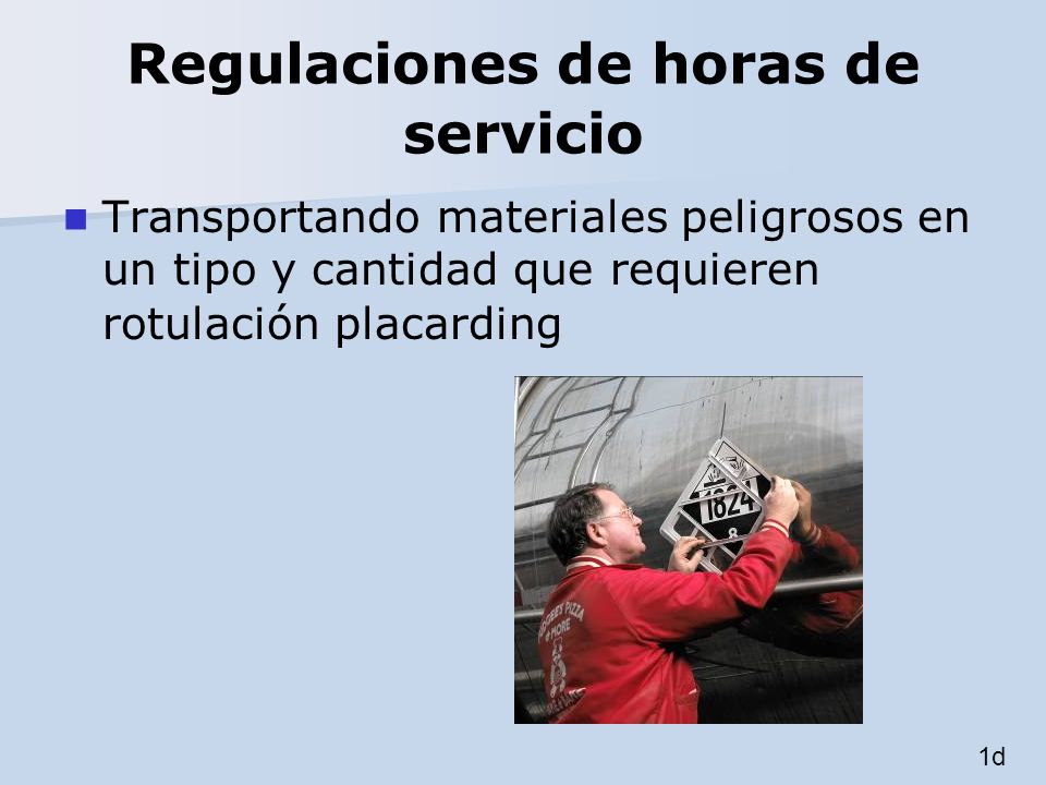 Regulaciones de horas de servicio