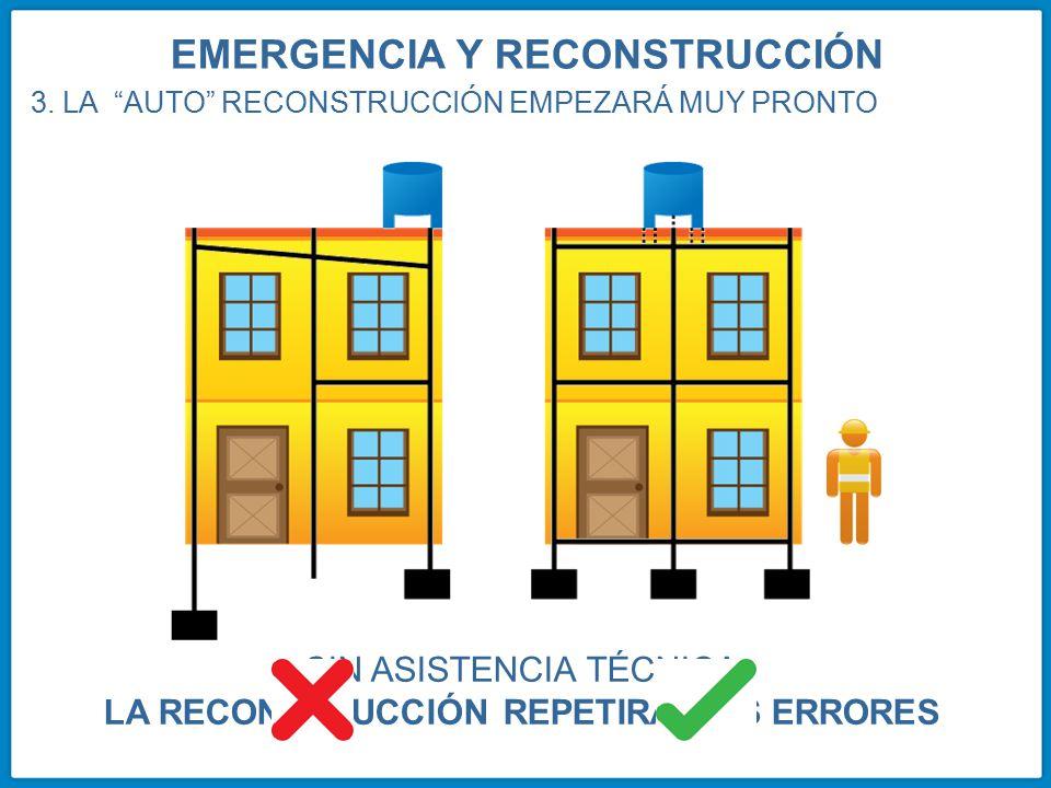 EMERGENCIA Y RECONSTRUCCIÓN LA RECONSTRUCCIÓN REPETIRÁ LOS ERRORES
