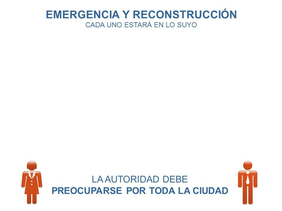 EMERGENCIA Y RECONSTRUCCIÓN