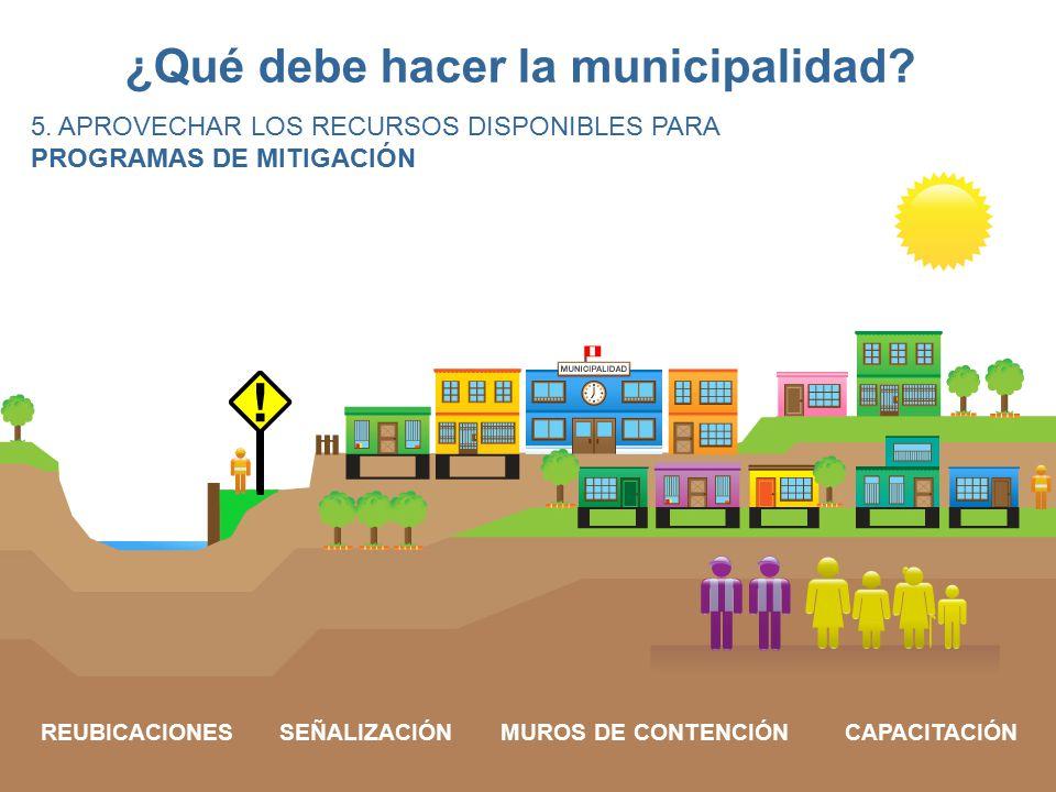 ¿Qué debe hacer la municipalidad