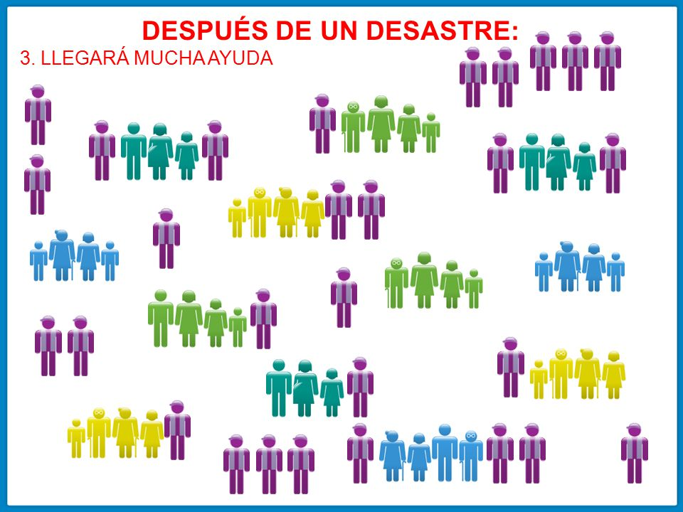 DESPUÉS DE UN DESASTRE:
