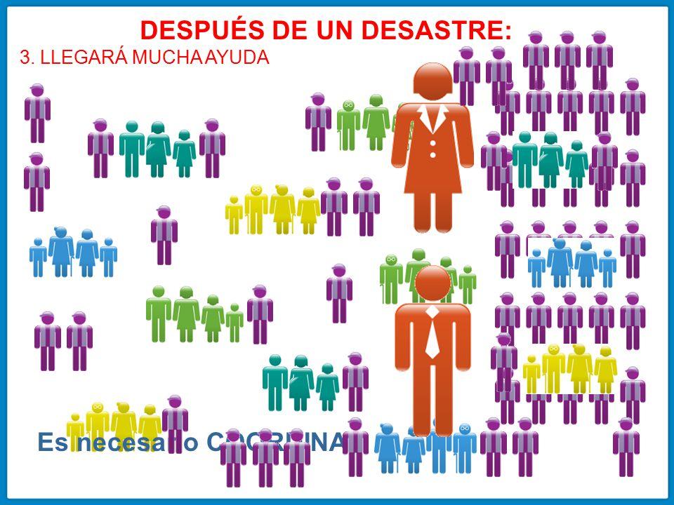 DESPUÉS DE UN DESASTRE: Es necesario COORDINAR