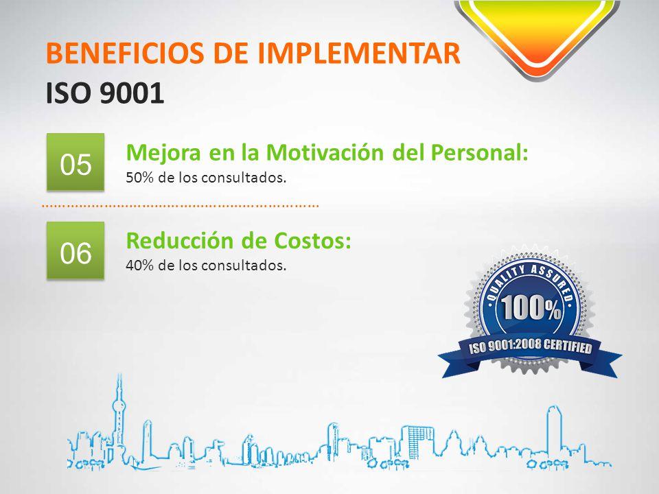 BENEFICIOS DE IMPLEMENTAR ISO 9001