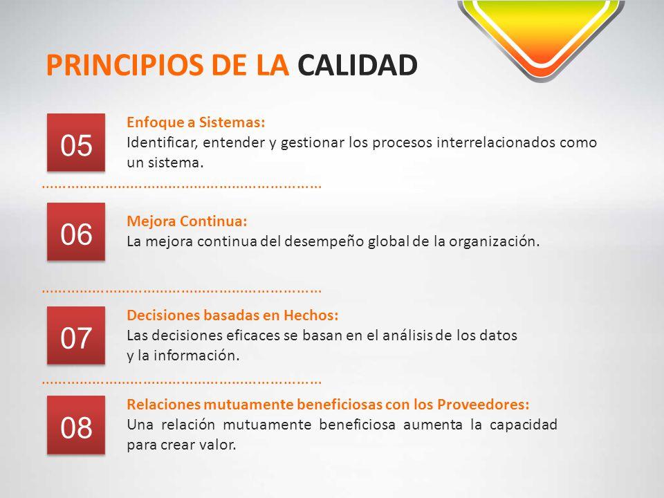 PRINCIPIOS DE LA CALIDAD