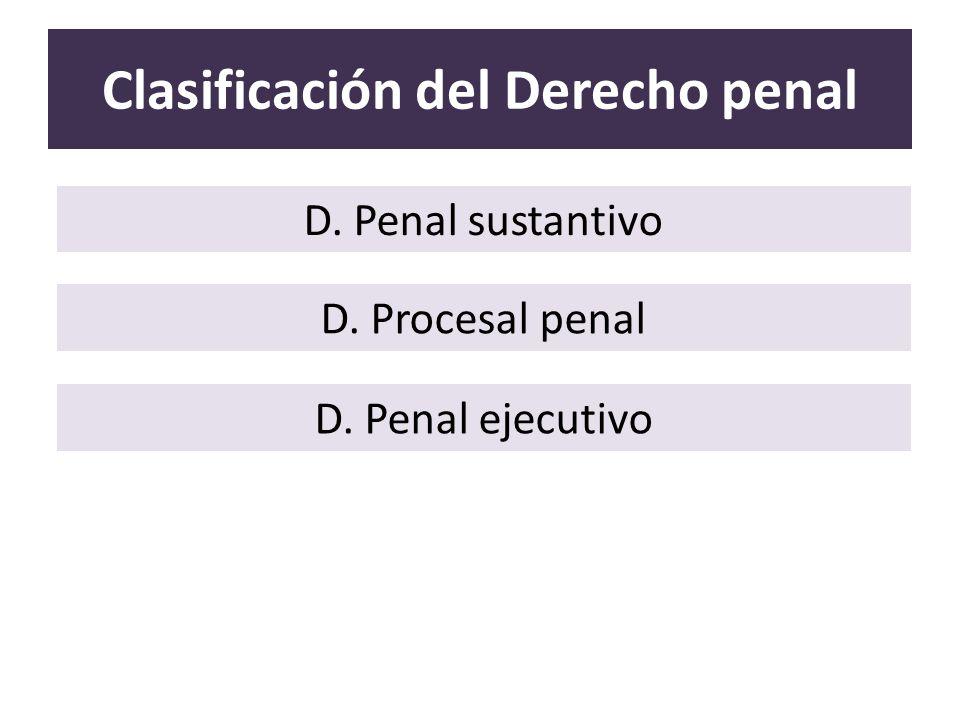 Clasificación del Derecho penal