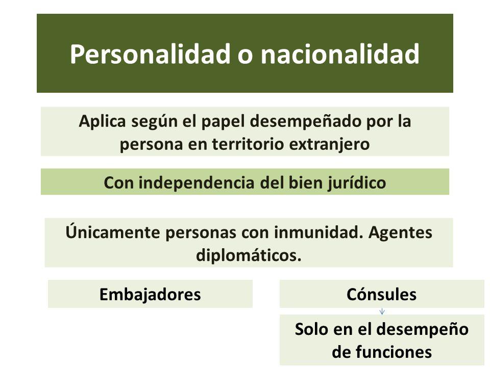 Personalidad o nacionalidad