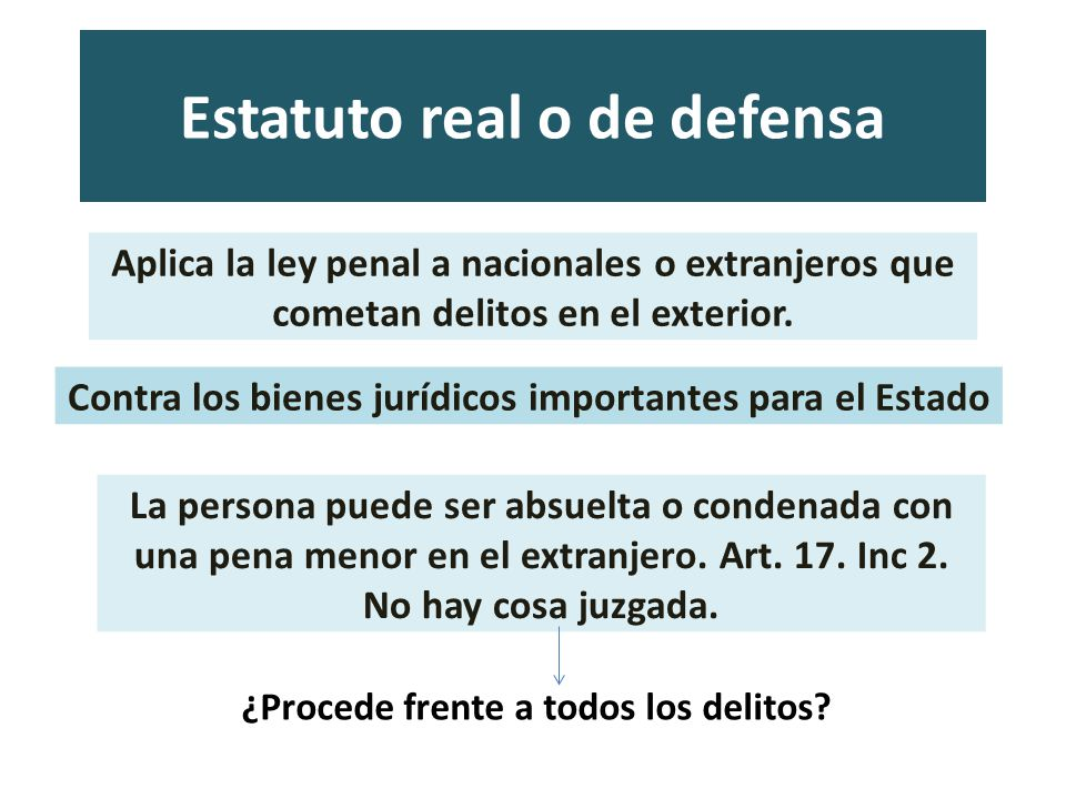 Estatuto real o de defensa