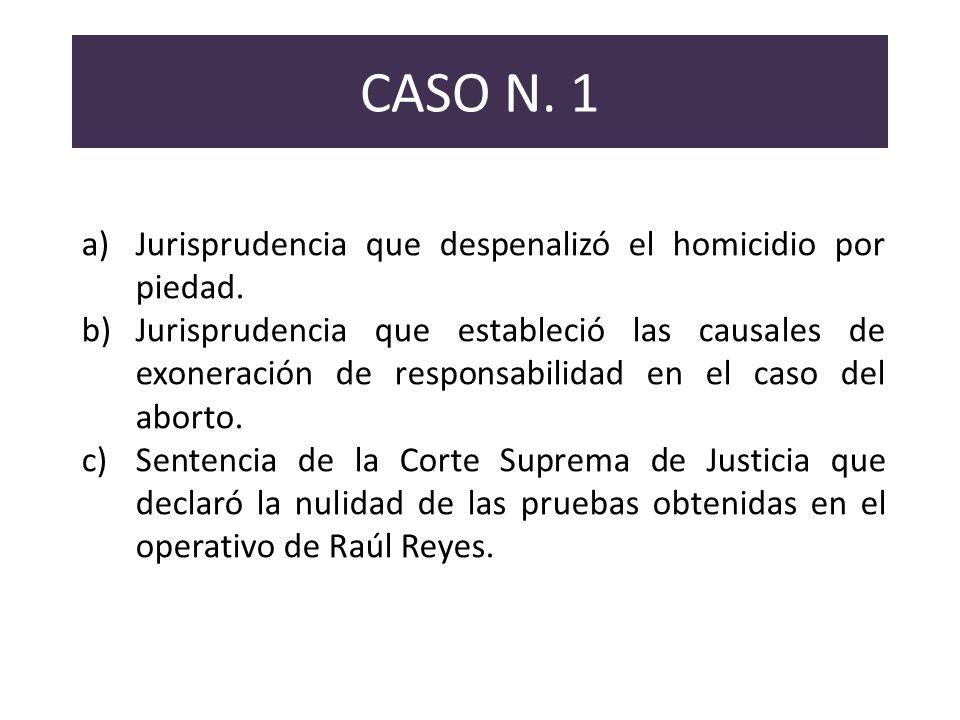 CASO N. 1 Jurisprudencia que despenalizó el homicidio por piedad.