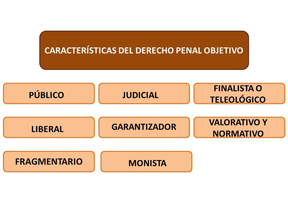FRAGMENTARIO CARACTERÍSTICAS DEL DERECHO PENAL OBJETIVO