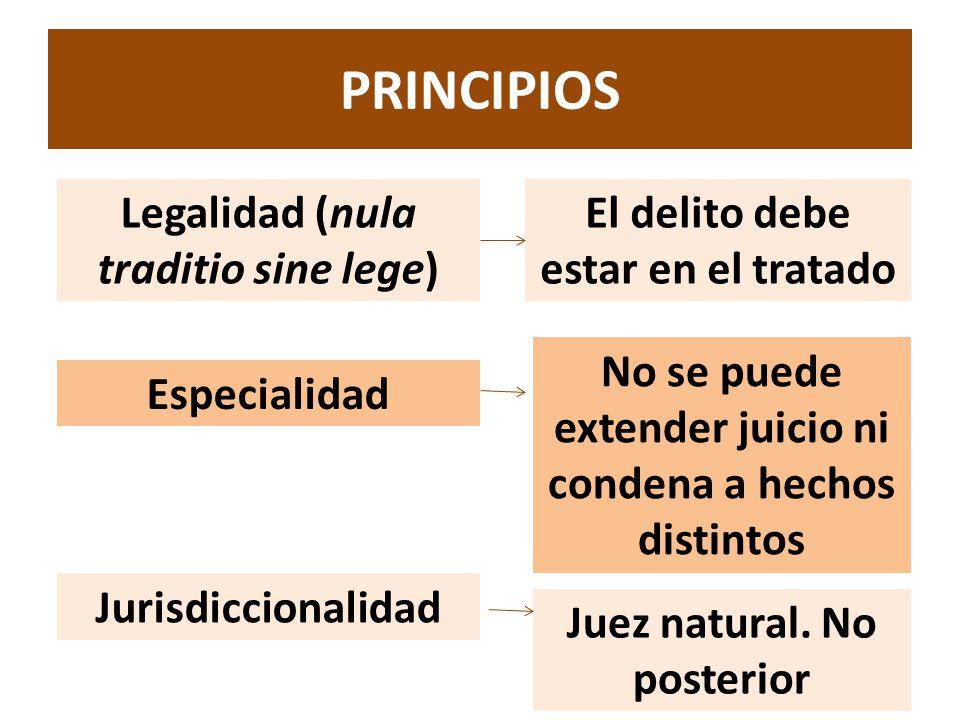 PRINCIPIOS Legalidad (nula traditio sine lege)