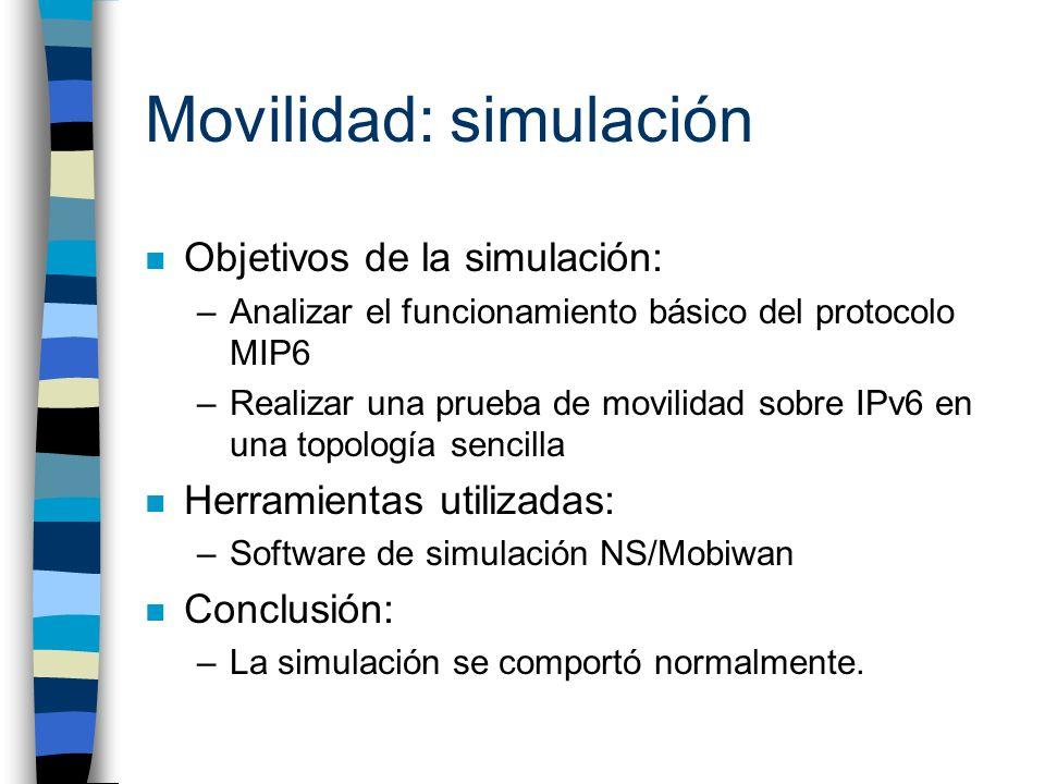 Movilidad: simulación
